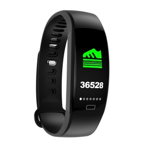 F64HR Sports Smart Bracelet Heart Rate Sleep Monitor Waterproof Bluetooth Wristband - Black
