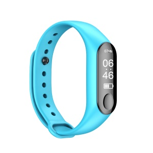 M3 Plus 0.87 inch OLED Screen Bluetooth Heart Rate Monitor Health Fitness Tracker Multi-functional Smart Wristband - Blue