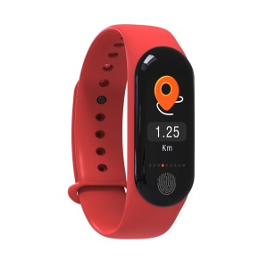 M3 Plus IP67 Waterproof Smart Bracelet Sports Heart Rate Monitor - Red