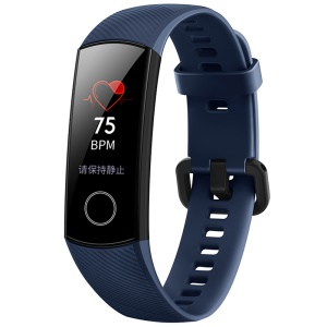 HUAWEI Honor CRS-B19 Band 4 AMOLED Color Touch Screen Bluetooth Waterproof Heart Rate Monitor Bracelet Pedometer Sports Activity Tracker - Blue