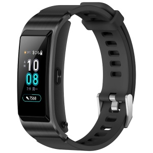 HUAWEI Talkband B5 Color Screen Full Touch Scientific Sleep Health Bracelet Wrist Bluetooth Headset Smart Wristband - Black
