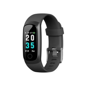 W10 0.96 inch Colored Screen Smart Wristband Fitness Tracker - Black