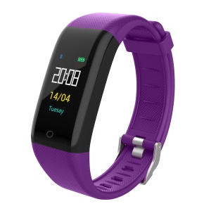 Y10 Smart Sports Wristband Heart Rate Monitor Fitness Tracker Waterproof Bracelet - Purple