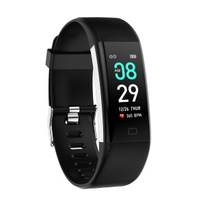 F07Max  0.96-inch Smart Sleeping Heart Rate Monitor Wristband - Black