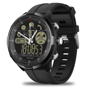 ZEBLAZE VIBE 4 Hybrid Sports Rugged Smartwatch / 1.24 inch FSTN Screen / 50m Waterproof / Luminous Pointer - Black