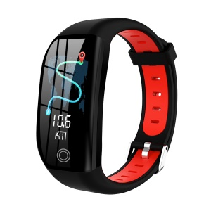 F21 1.14 inch Screen Smart Sports Bracelet Watch Band Sleep Monitor GPS Activity Tracker - Black/Red