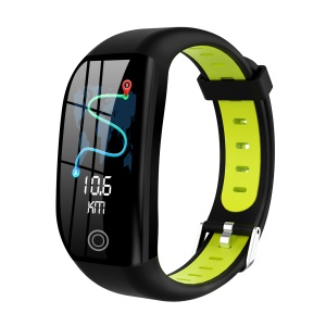 F21 1.14 inch Screen Smart Sports Bracelet Watch Band Sleep Monitor GPS Activity Tracker - Black/Green