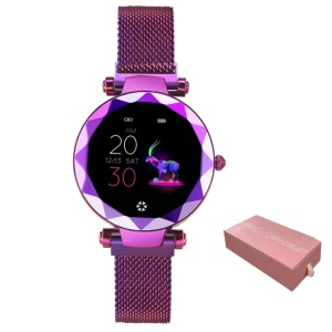 HI 18 1.04-inch Screen Smart Sports Bracelet Heart Rate Female Physiological Reminder for IOS Android - Purple