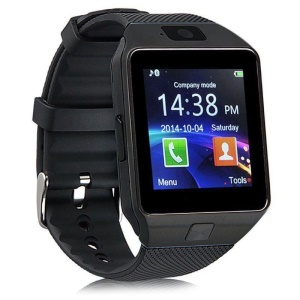 DZ09 Single SIM Smart Watch Phone 1.56 inch LCD Screen with Camera Sleep Monitor - Black