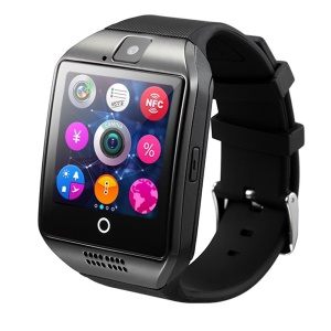 Q18 Bluetooth Camera Smart Wrist Watch Phone Support SIM Card for Android (CE/RoHS) - Black