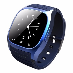 M26 1.4-inch Bluetooth Smartwatch Wristwatch Support Remote Shutter Pedometer Barometer for iOS & Android - Dark Blue