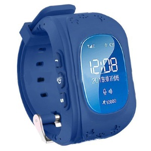 Q50 Children Safety Monitoring GPS Tracker SOS Kids Smart Watch Phone Support SIM - Dark Blue