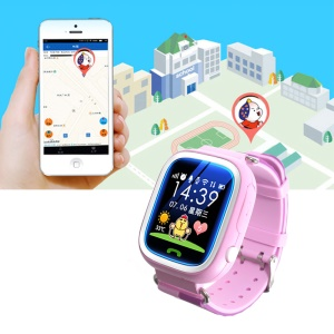 Q70 1.22-inch GPS Kids Smart Watch, Support SIM/SOS Call/Location/Finder/Tracker - Pink