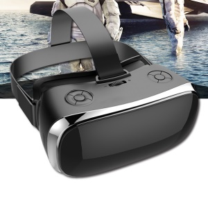 MOTION V3 3D VR Virtual Reality Glasses 5.5-inch IPS HD Screen Headset with Bluetooth Gamepad - Black / UK Plug