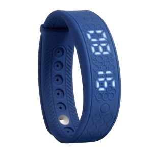 H5S Smart Bracelet LED Display Silicone Band Real-time Heart Rate Monitor - Dark Blue