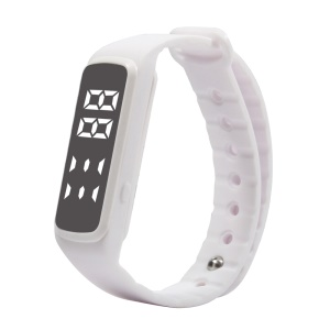 CD5 Silicone Sport Wristband with Calorie Consumption Pedometer Sleep Monitor Multi-functions - White