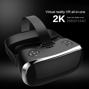 V3H 5.5 Inch 2K Panorama All-in-one 3D Glasses Virtual Reality Headset Support WiFi HDMI - Black / US Plug