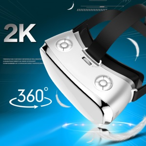 V3H All-in-one VR 3D Glasses Headset 5.5 Inch 2K Panorama Support WiFi HDMI - White / US Plug