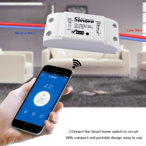 Smart Home WiFi Remote Timing Switch Support Apple Android Wireless Control - White