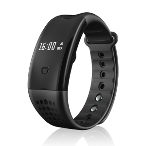 W2 s Bluetooth 4.0 Smart Wristband Sports Bracelet Blood Oxygen & Heart Rate Monitor - Black