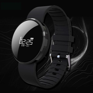 UWATCH UW1X Bluetooth 4.0 Pulseira Inteligente IP67 Waterproof Heart Rate / Monitor de Pressão Sanguínea - Preto