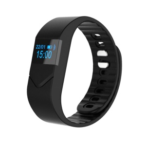 "M5 0.49"" OLED Bluetooth 4.0 Wristband Fitness Health Bracelet Support Blood Pressure Blood Oxygen Heart Rate Monitor - Black"