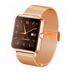 Z50 Smart Wristwatch Watch Phone with Camera Support SIM Card for Android - Gold Color