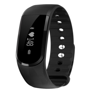 ID101 Bluetooth Fitness Smart Wrist Band Support Heart Rate Monitor - Black