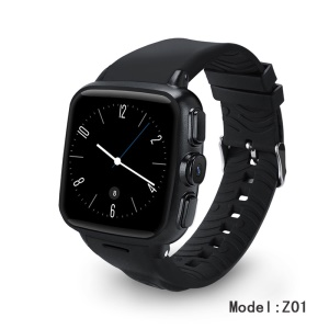 Z01 Waterproof Smart Watch 3G WiFi Capacitive Touch Screen Android Watch Phone Smart Heart Rate 512M+4GB - Black