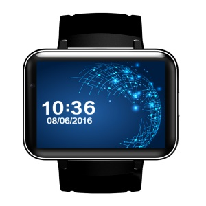 DM98 3G Smart Watch Teléfono Android 5.1 MTK6572 Dual Core 1.2GHz 512MB / 4GB - Negro