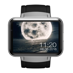 DM98 2.2 inch HD LED Android 5.1 MTK6572 Dual Core Bluetooth 3G Smartwatch Phone - Silver