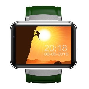 DM98 Android 5.1 MTK6572 Dual Core 512MB/4GB 3G Smart Watch Phone Support Video Calls - Green