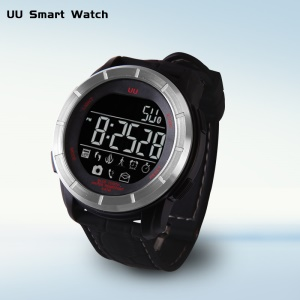 50m Waterproof Fitness Smart Sport Wristwatch with Pedometer/Camera Remote - Silver