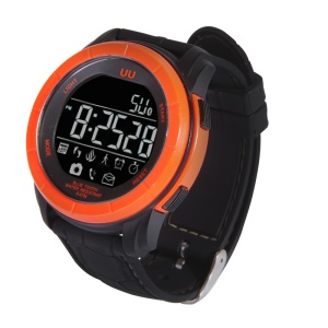 5 ATM Waterproof Smart Sport Watch with Pedometer/Camera Remote - Orange