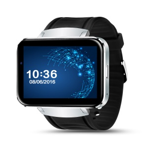 IMACWEAR W1 3G Dual Core 512MB + 4G Bluetooth 4.0 Watch Phone with GPS, Sleeping Monitor, Etc. - Silver Color
