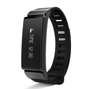 W6 Smart Bluetooth Sports Wristband Fitness Bracelet with Pedometer Sleep Monitor - Black