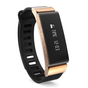 W6 Smart Bluetooth 4.0 Bracelet 0.86-inch OLED Sports Fitness Wristband (CE/FCC) - Gold Color