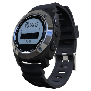 S928 GPS Smartwatch IP66 Waterproof Bluetooth Outdoor Sports Smart Watch for Android iOS - Black