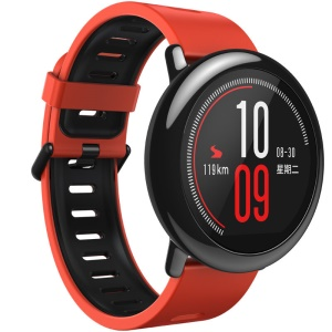 HUAMI AMAZFIT International Version Bluetooth 4.0 Sports Smart Watch, Supports Health Tracker/GPS Trail - Red