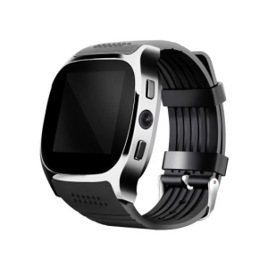 T8 2G Smart Watch Phone 1.54 Inch Bluetooth 3.0 Smart Watch Support Pedometer Camera Shutter etc. - Black
