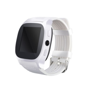 T8 2G Bluetooth Smart Watch Wrist Watch Support Pedometer Camera Shutter for iPhone Samsung Phones - White