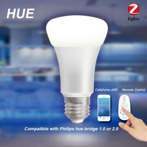 E26 E27 Smart LED Light Bulb Wireless ZigBee Home Automation Dimmable Bulb with Remote Control
