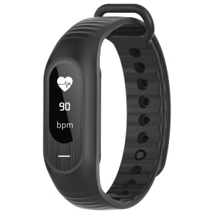 B15P 0.86 inch Waterproof Touch Smart Bracelet with Blood Pressure and Heart Rate Monitor - Black