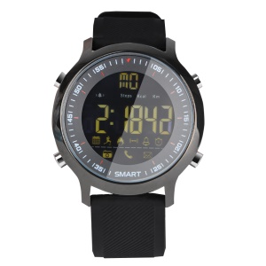 EX18 Smart Watch Hombre Sport Watch 5ATM impermeable Bluetooth 4.0 Smartwatch para iOS y Android - Negro