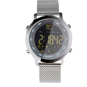 EX18 Multi-functional 5ATM Waterproof Bluetooth 4.0 Smart Watch Men Sport Watch for iOS and Android - Silver Color