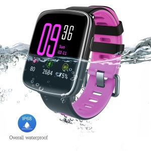 GV68 IP68 1.54-inch Waterproof Sports Smart Bluetooth Watch Smart Bracelet for Android IOS - Rose