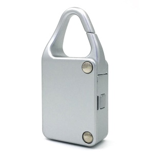 Smart Automatic Secure Padlock Key-less Bluetooth Padlock for iOS Android Devices - Silver Color