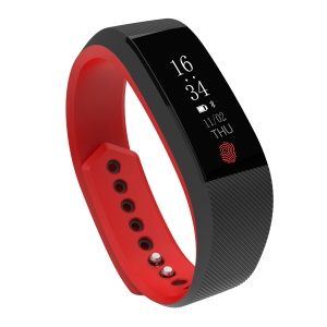 B15 0.91 inch OLED Screen Bluetooth 4.0 Heart Rate Monitor Smart Wristband Fashionable Sport Bracelet - Red