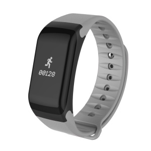F1 Waterproof 0.66-inch Bluetooth 4.0 Fitness Tracker Smart Bracelet with Heart Rate Monitor for IOS Android - Grey