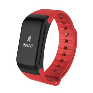 F1 0.66-inch Bluetooth 4.0 Fitness Tracker Smart Watch Bracelet with Heart Rate Monitor for IOS Android - Red